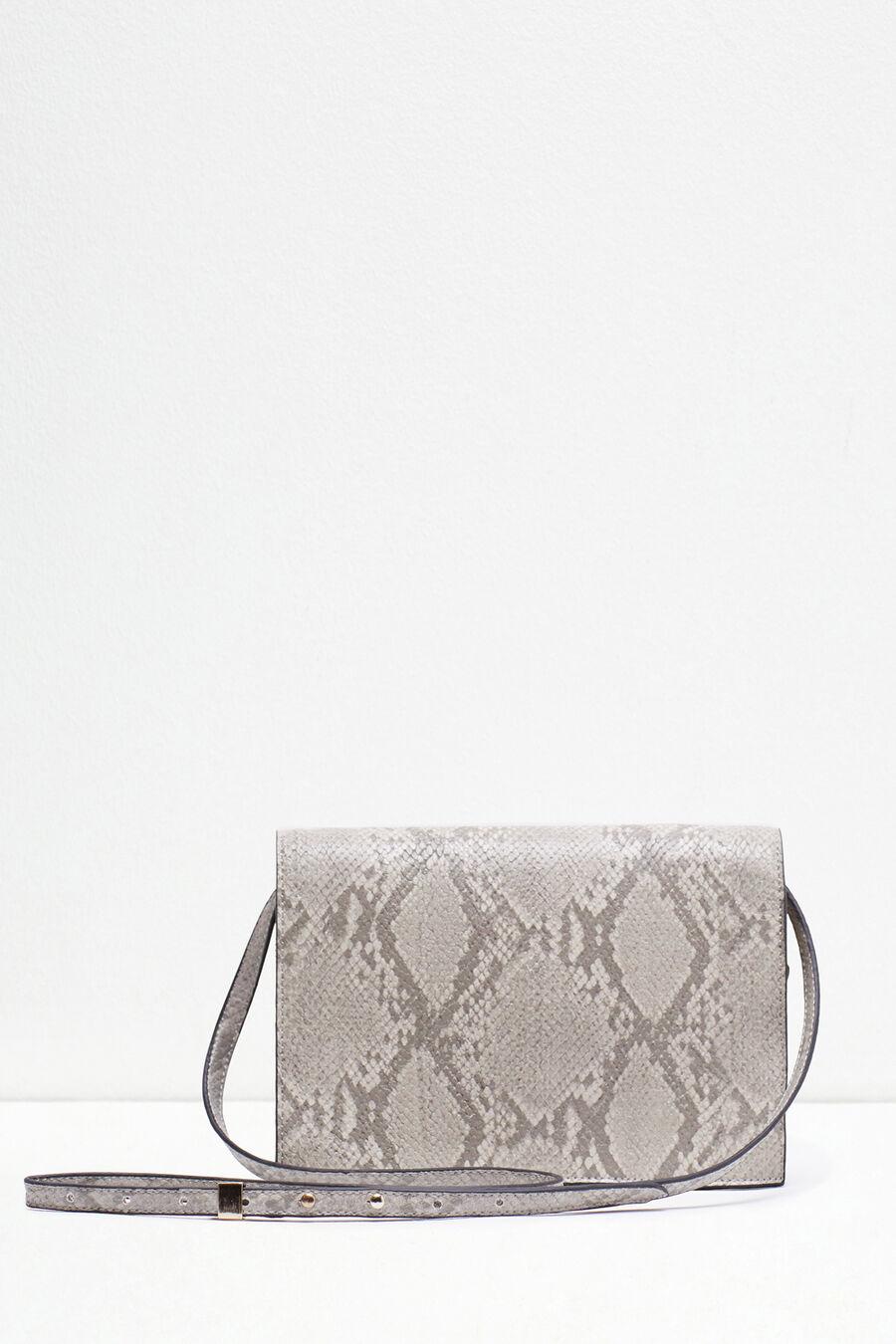 Snakeskin print purse