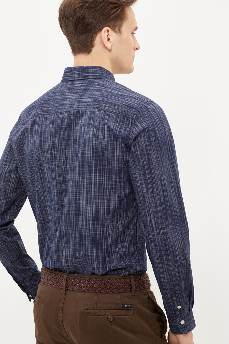 Checked indigo shirt