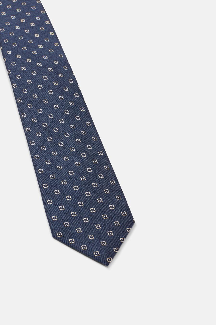 Geometric flower tie