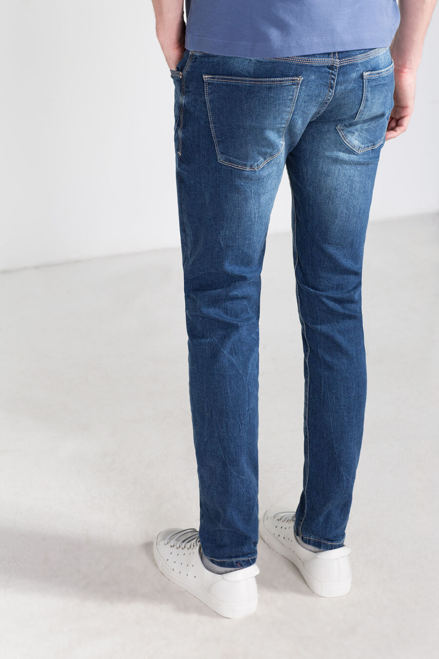 Super slim fit denim trousers