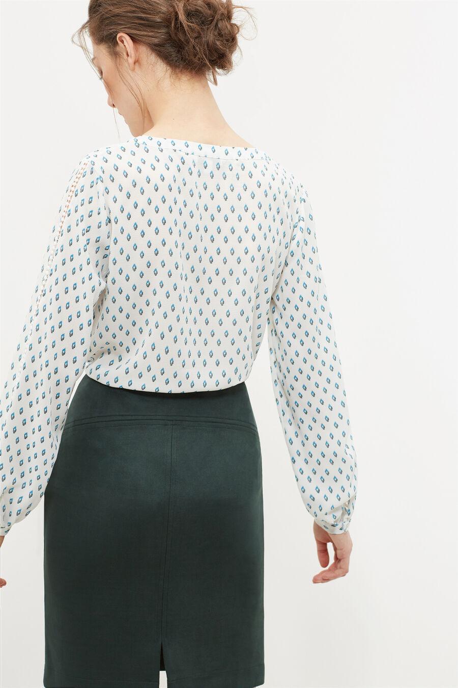 Mao collar blouse