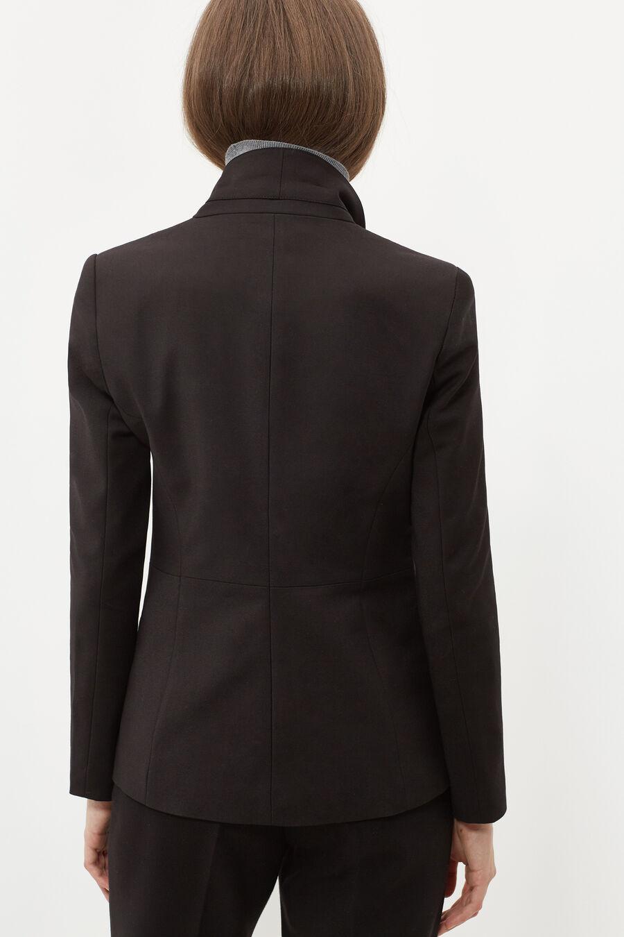 Asymmetrical cut jacket