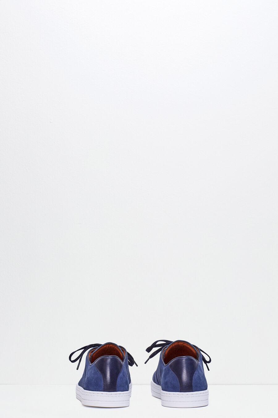 Split leather sneakers