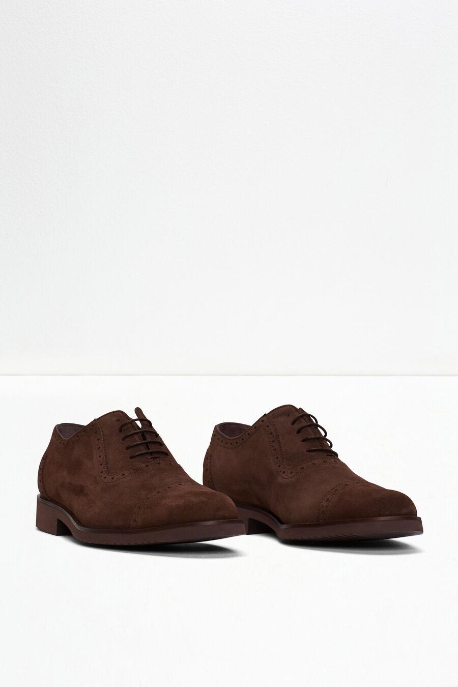 Zapato oxford de serraje