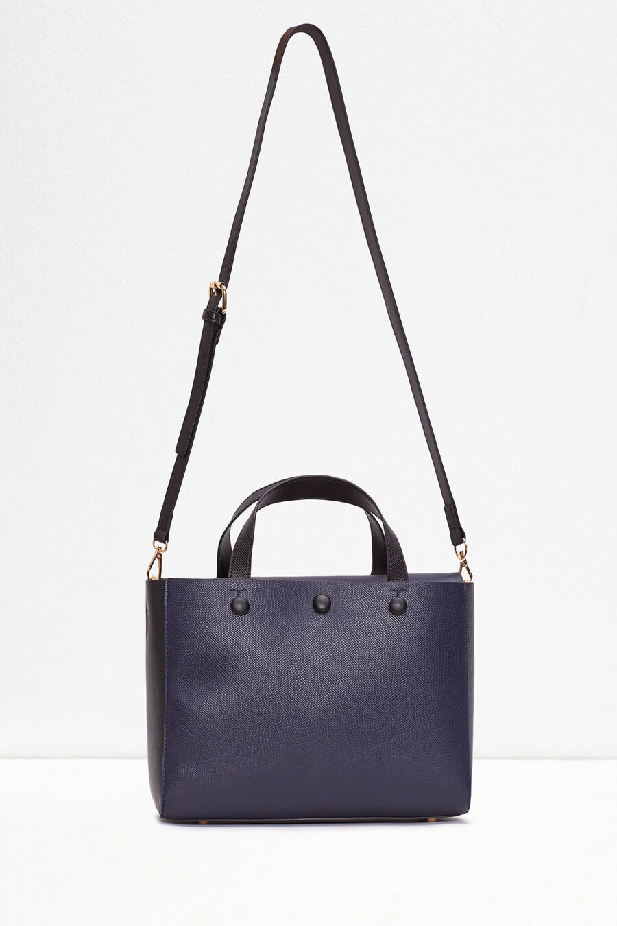 Two-colour mini shopper bag