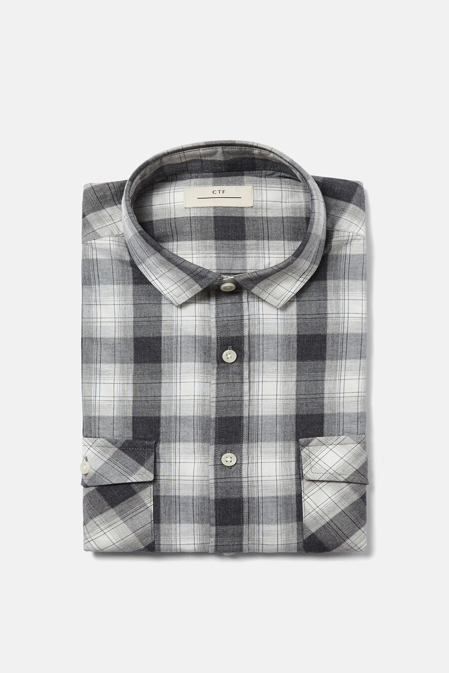 Tailored fit checked shirt