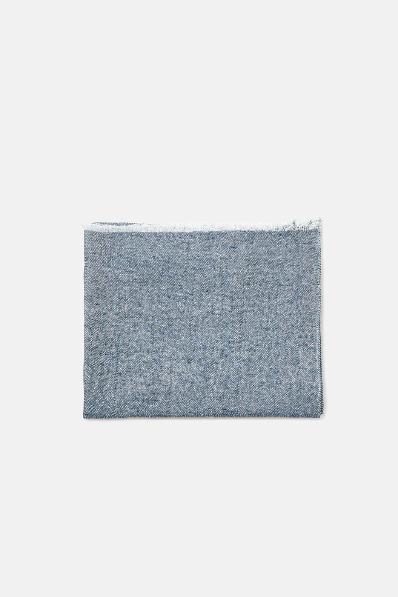 Cortefiel Foulard liso lino Azul