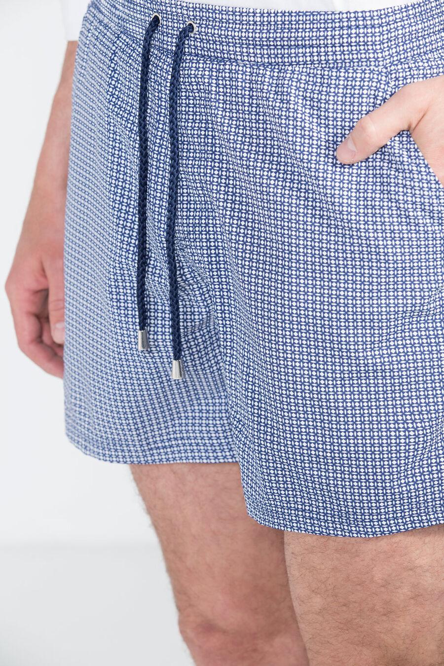 Patterned swim shorts