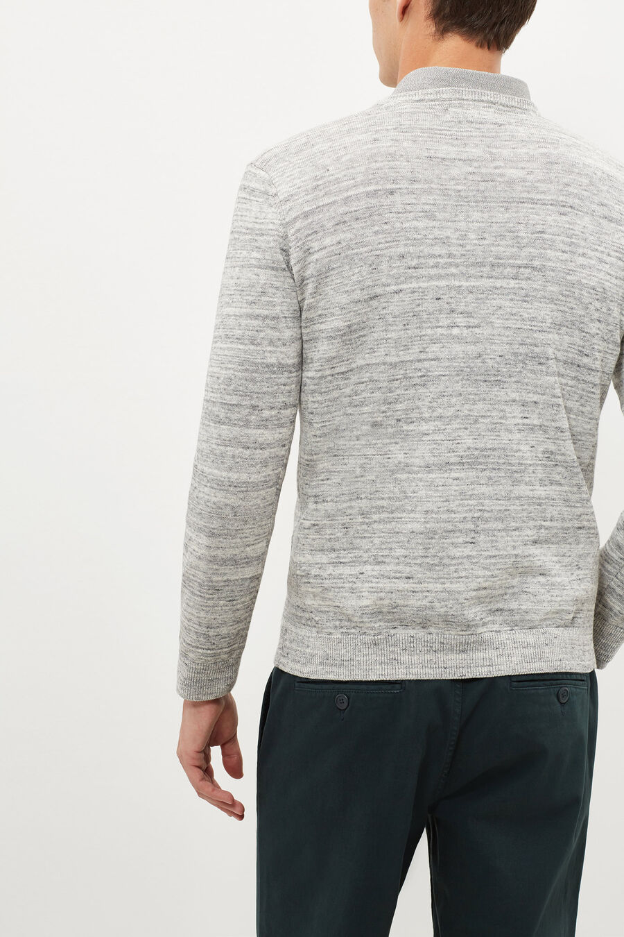 Patterned v-neck jumper
