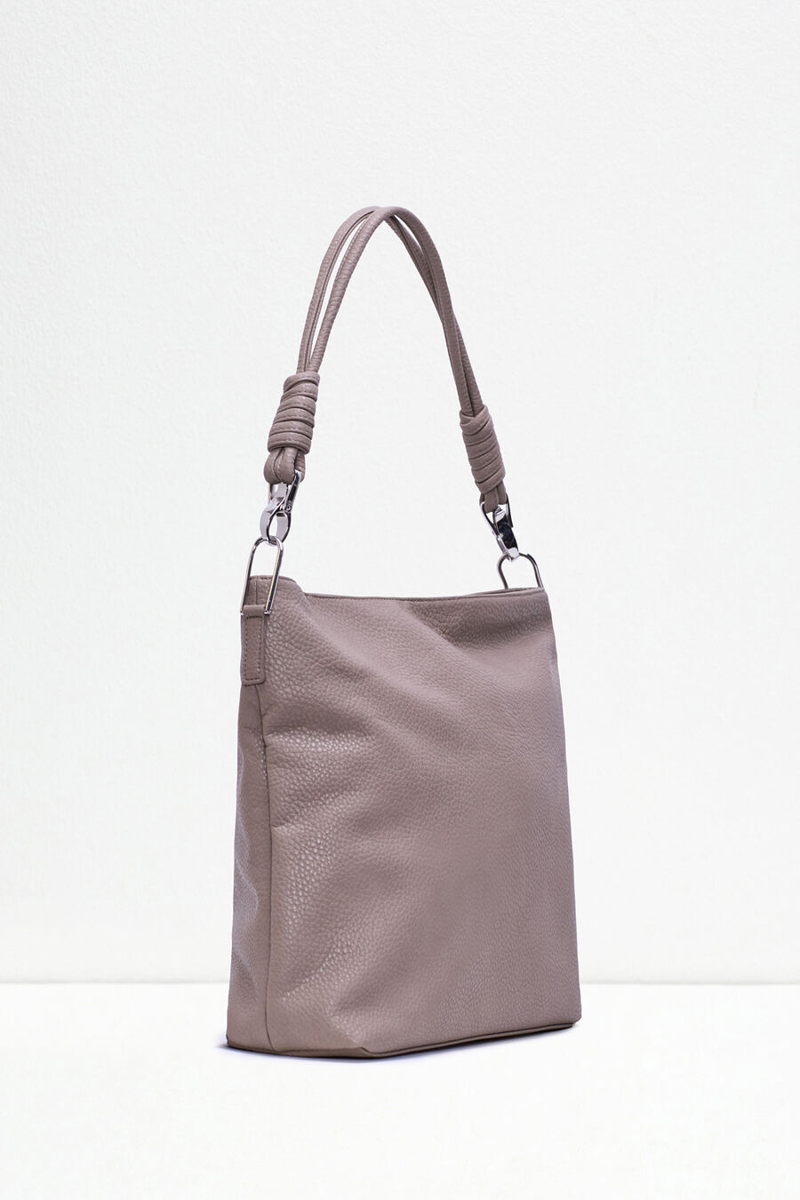 Textured hobo bag