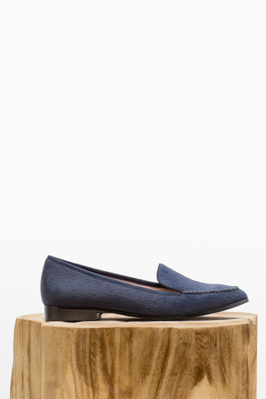 Split leather moccasin
