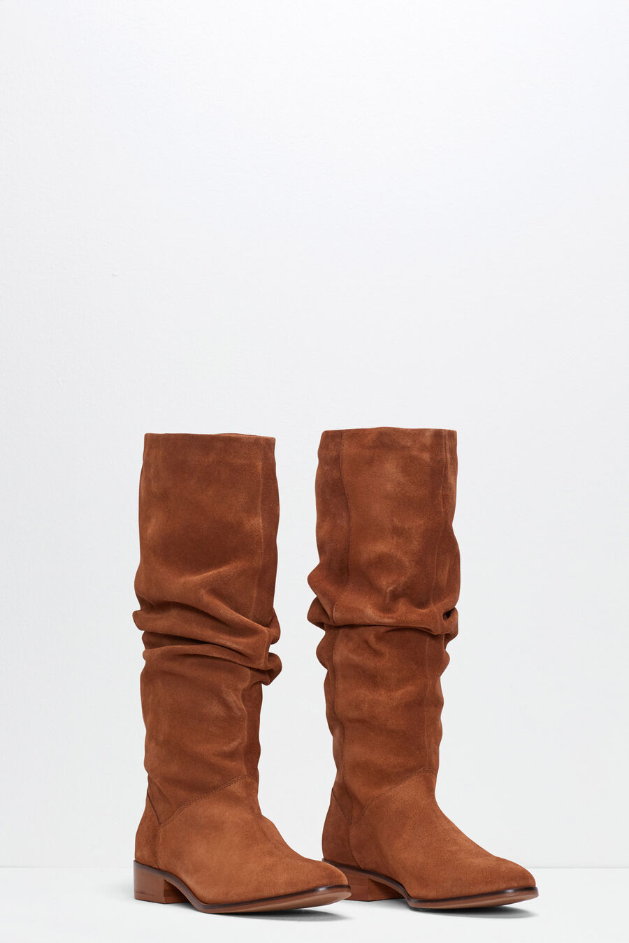 Split leather country boots