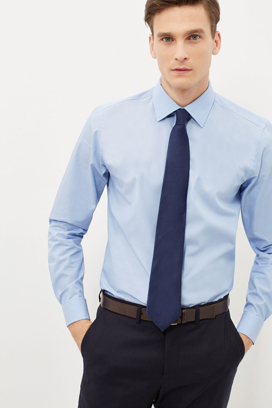 Tailored fit formal shirt