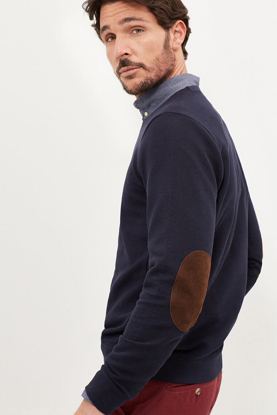 Elbow patches sweatshirt