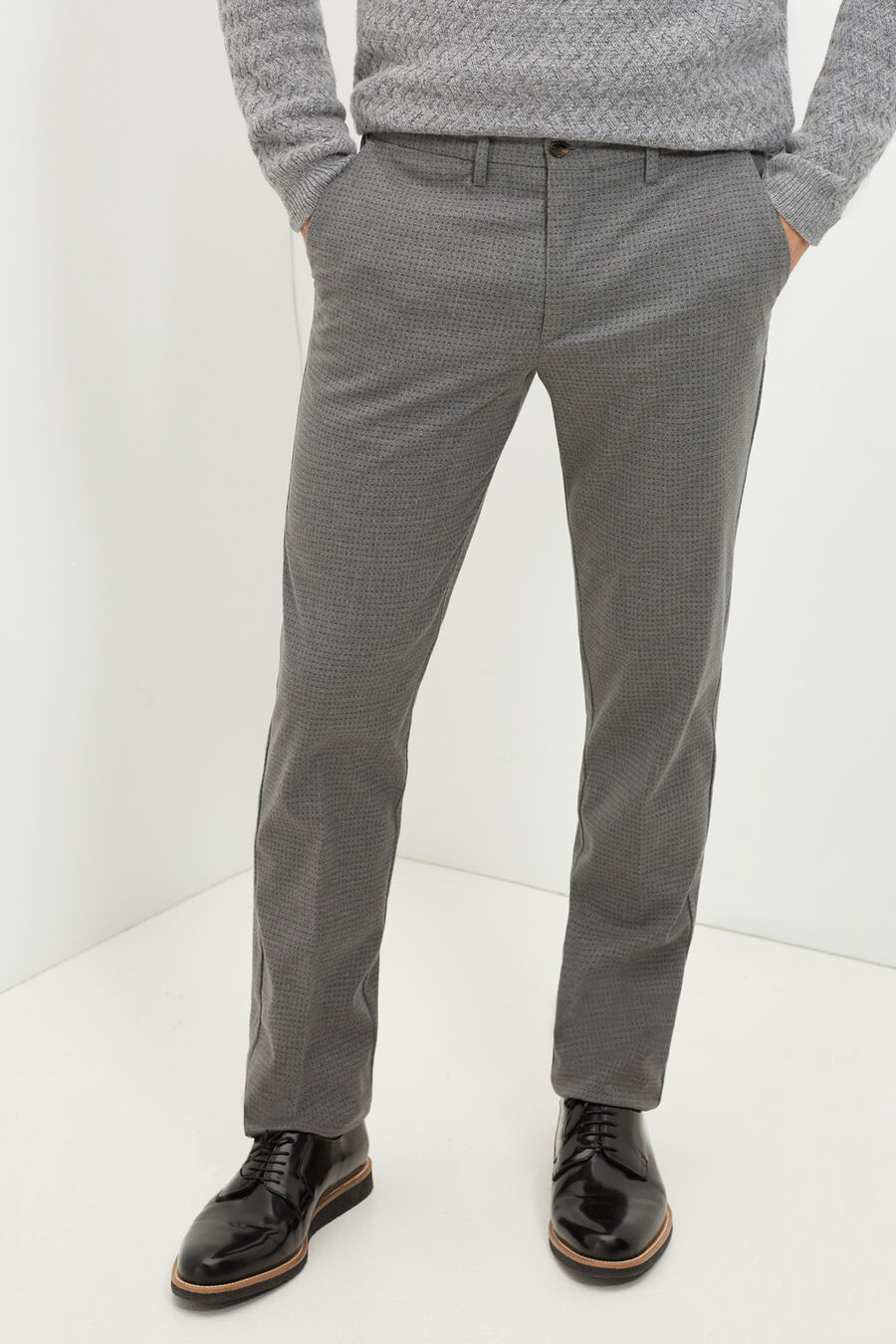 Tailored fit print trousers