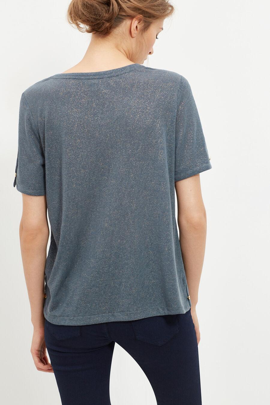 Camiseta en mezcla de lino