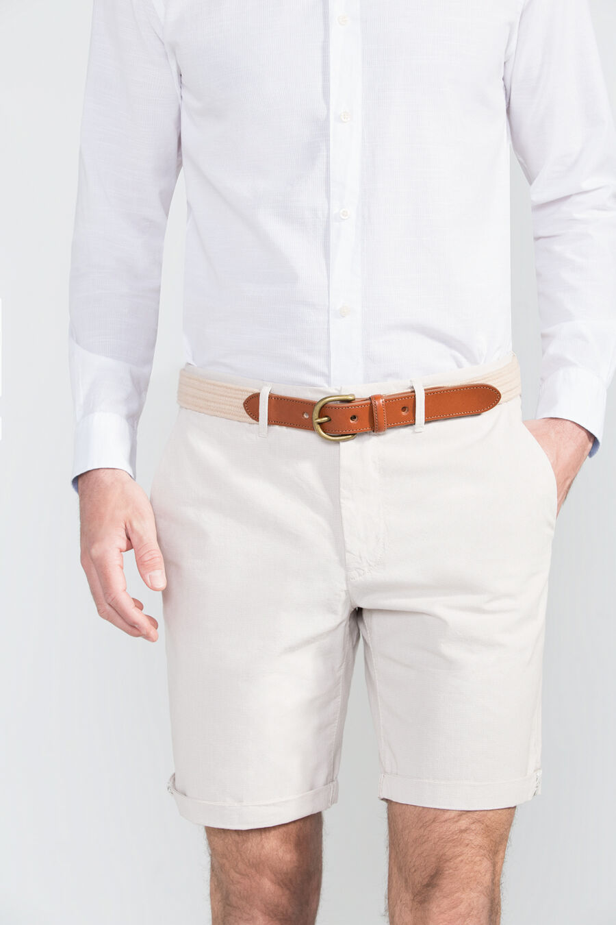 Tailored fit bermuda shorts