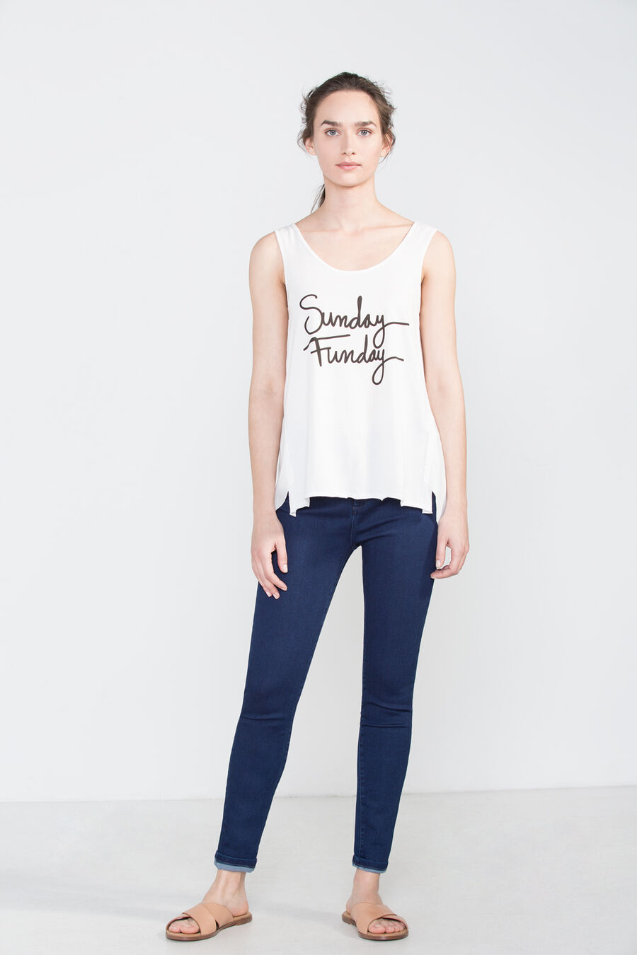 Tank top with text