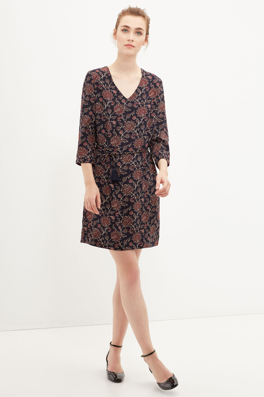 Lurex tunic dress