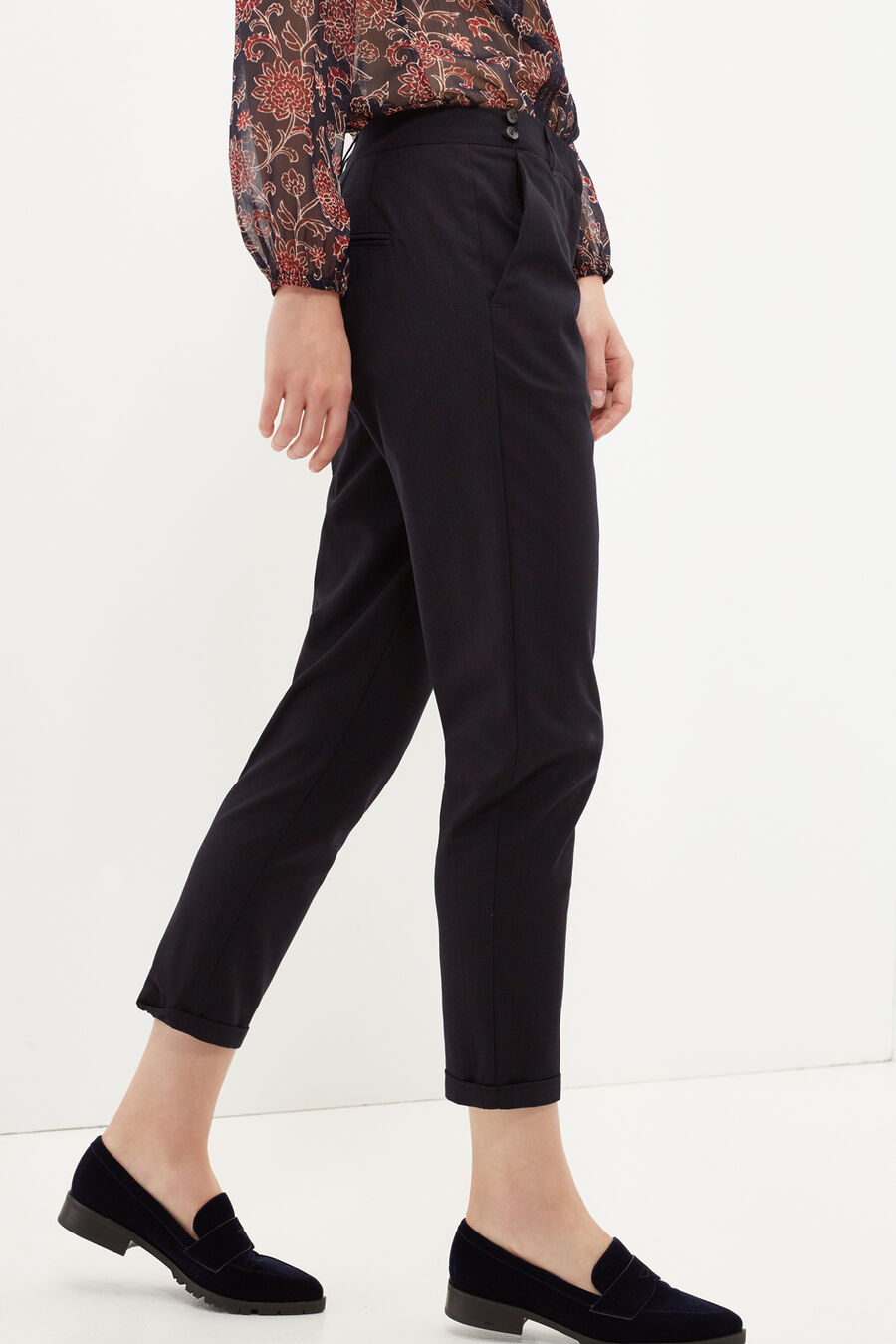 Prince of Wales print trousers