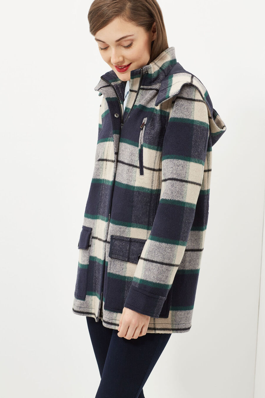 Jacquard duffle coat