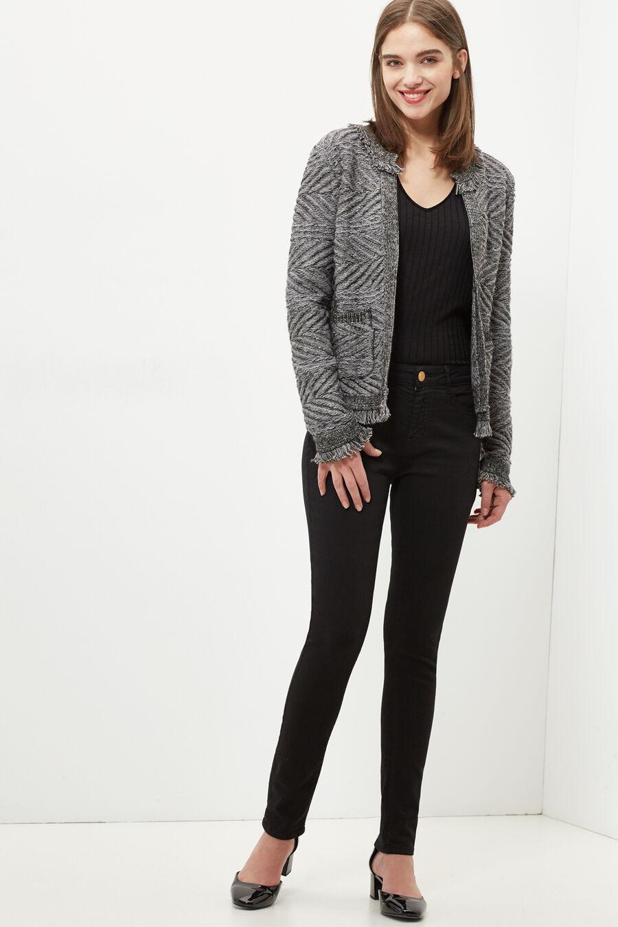 Skinny fit denim trousers