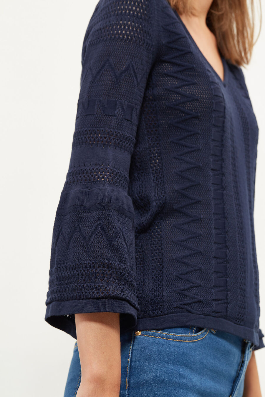 Open-knit jumper