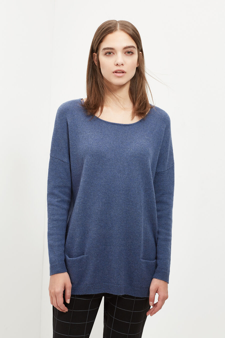 Boat neck jumper
