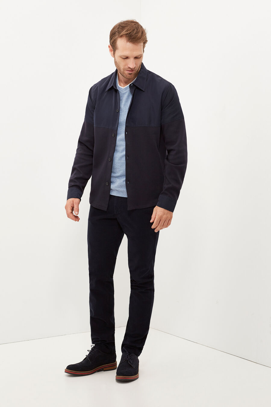 Multiple textures overshirt