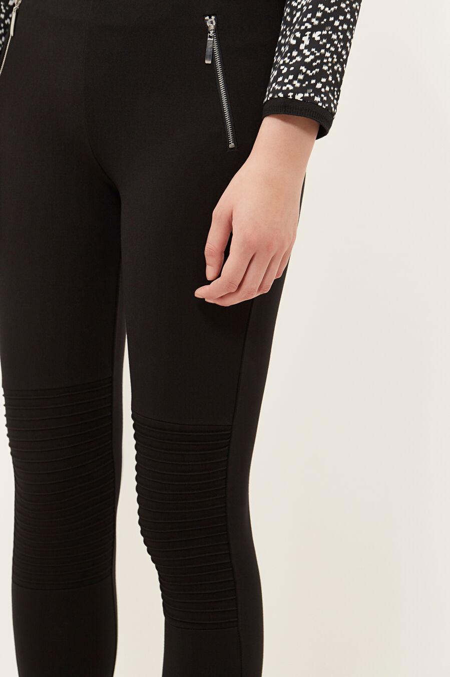 Leggings with zips