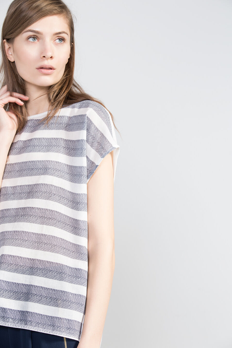 Structured print t-shirt