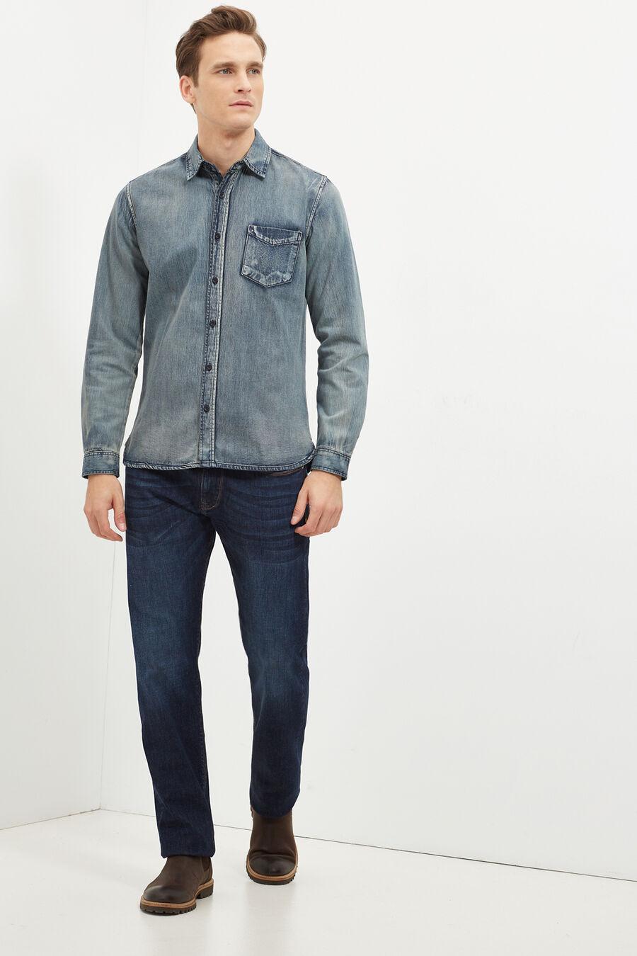 Regular-fit denim trousers