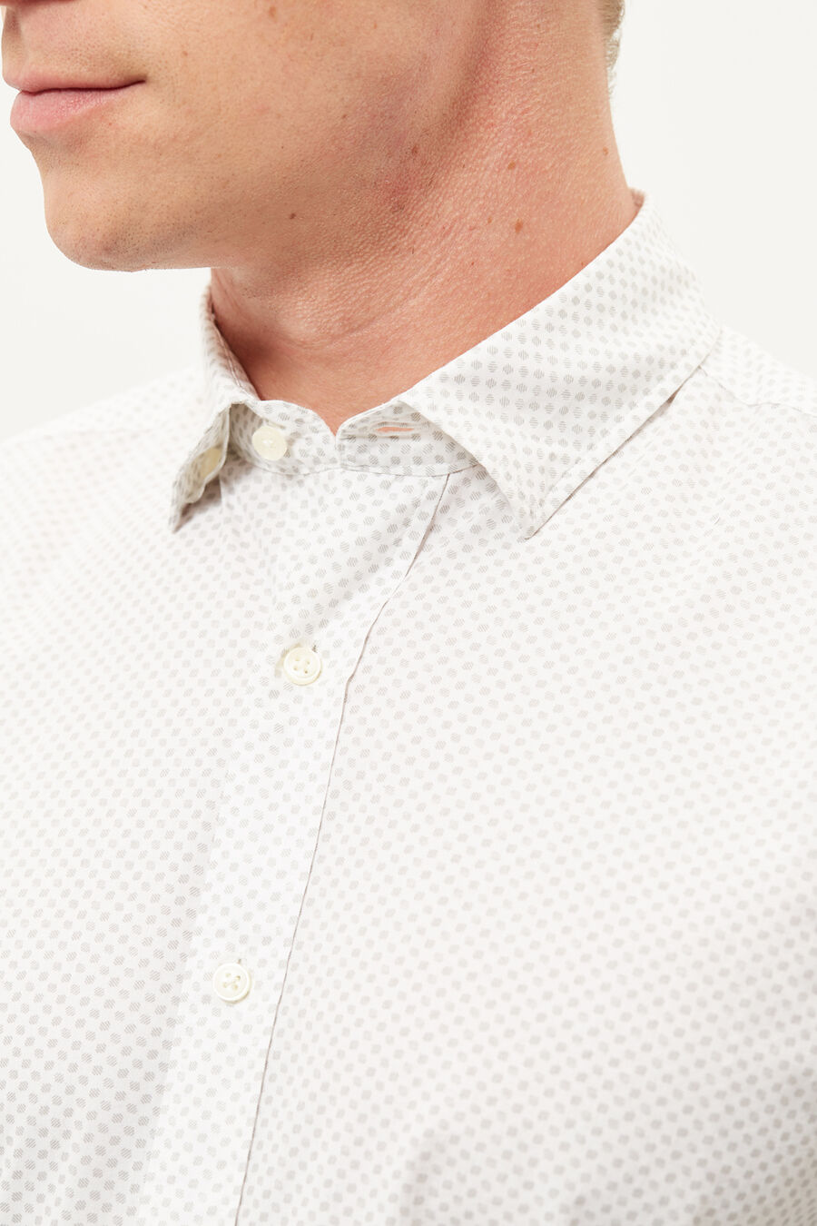 Tailored fit print shirt