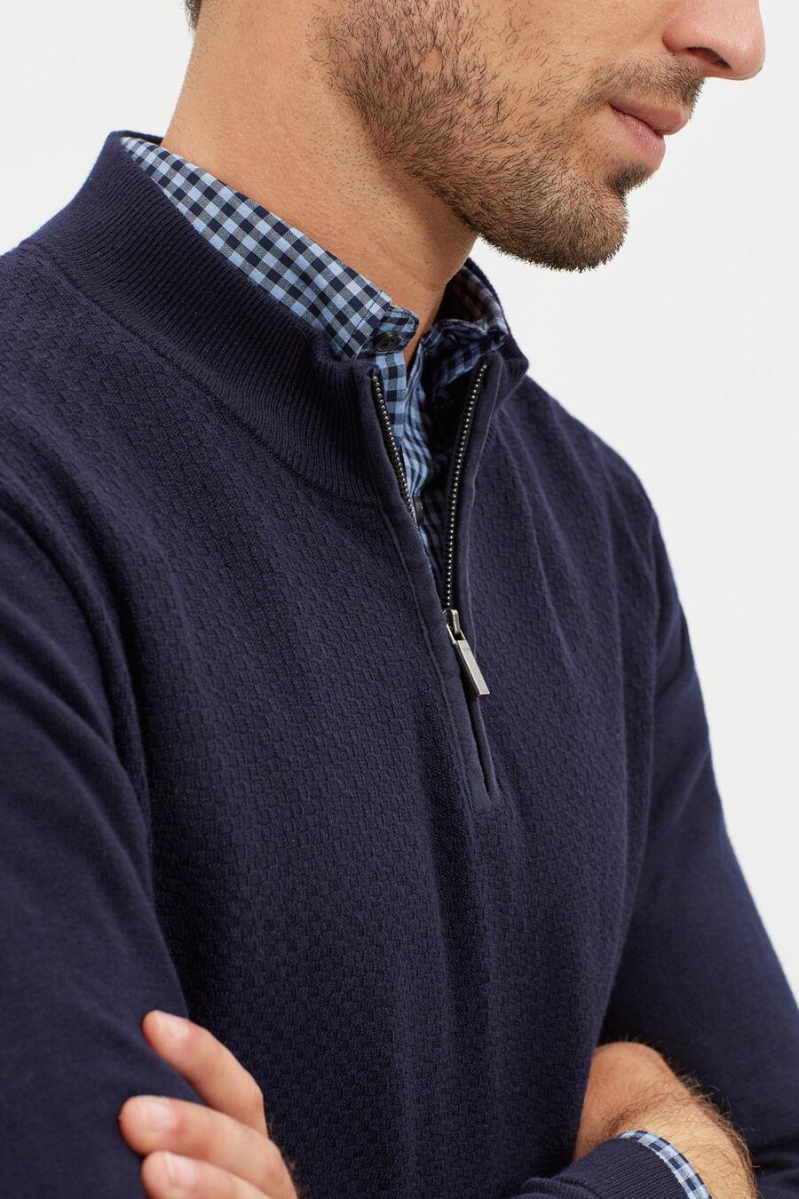 Textured turtle neck jumper