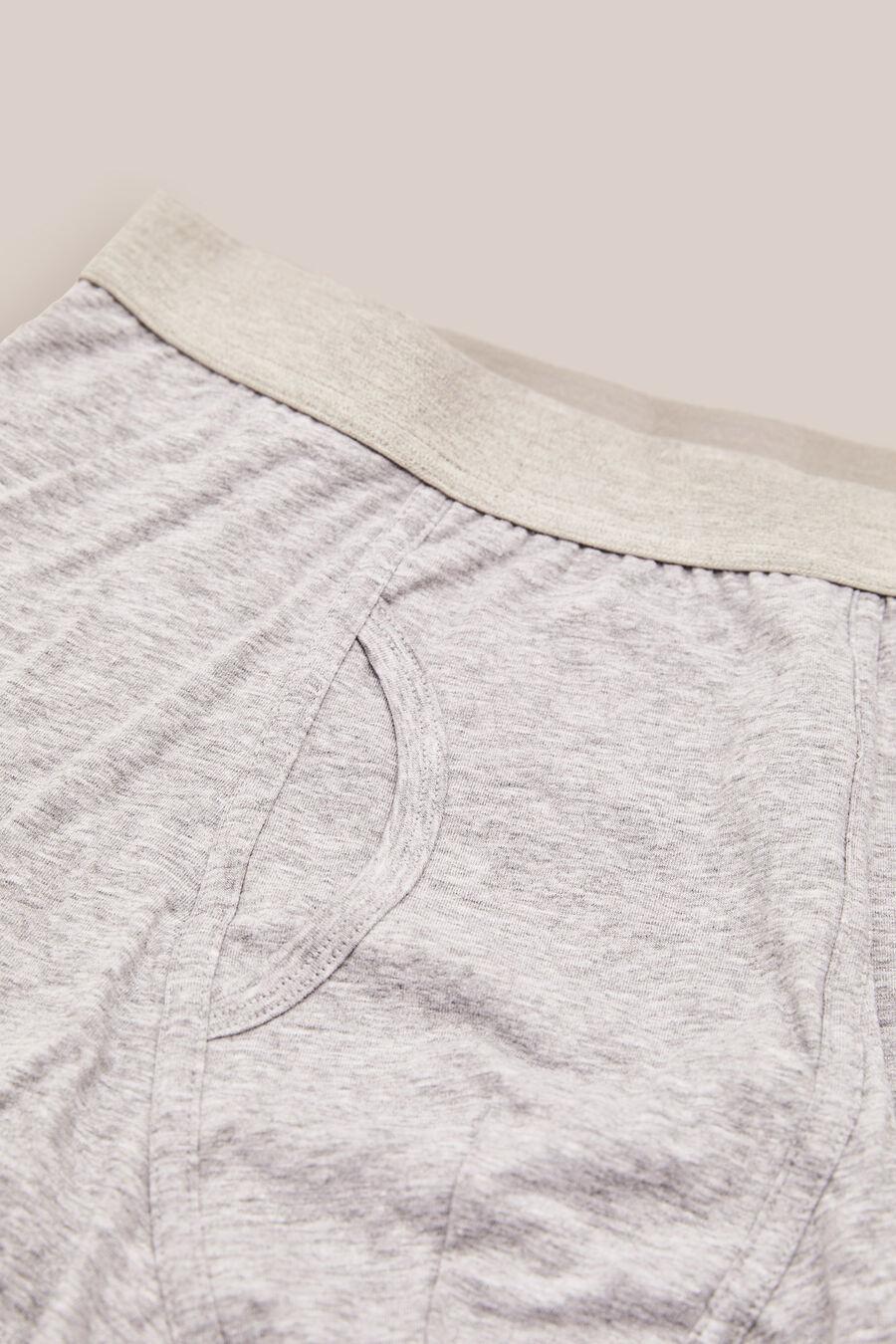 Plain knit boxers