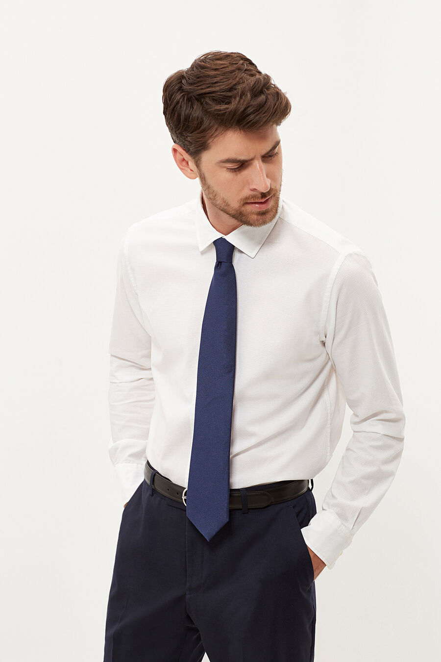 Camisa tailored fit estructura