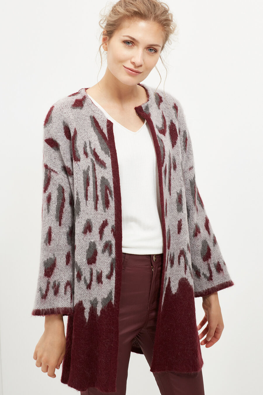 Chaqueta jacquard animal