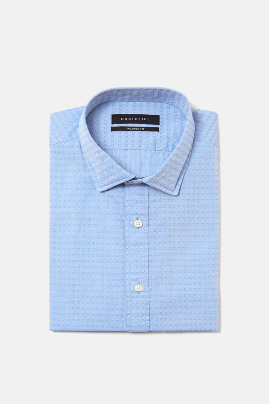 Structured tailored fit shirt