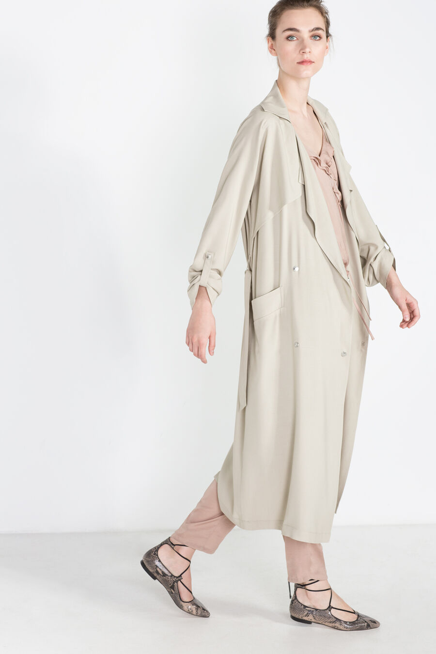 Loose trench coat