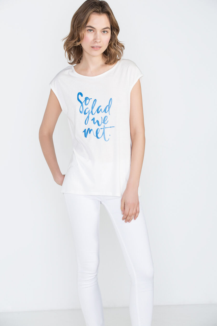 Multicolor text t-shirt
