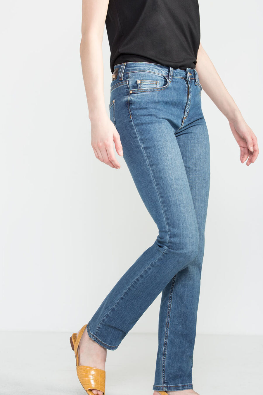 Regular premium denim trousers