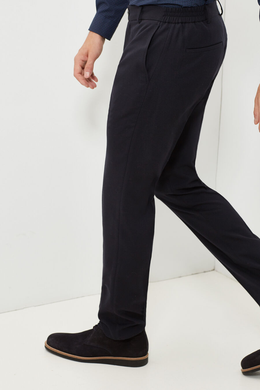 Slim fit wool trousers