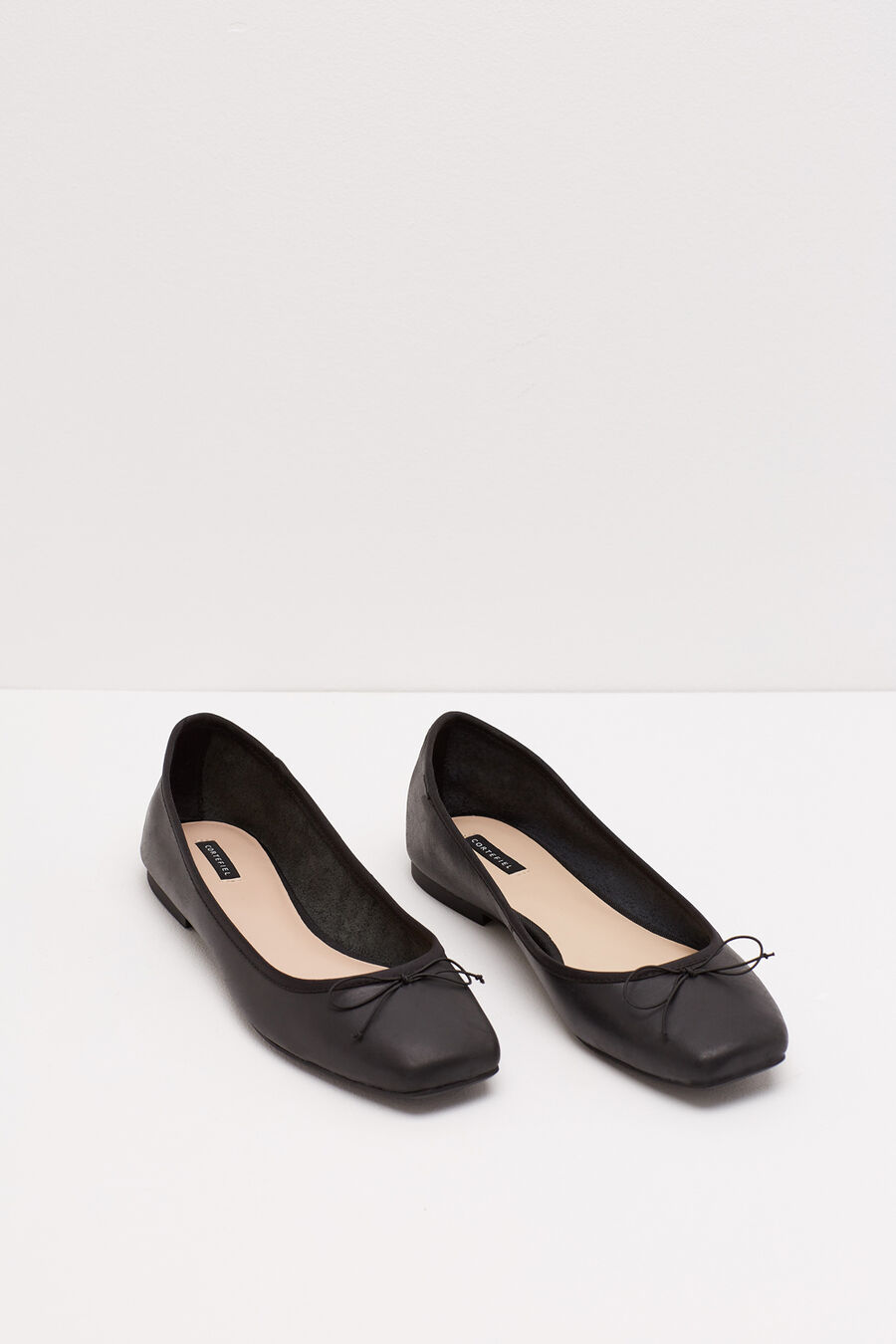 Bow ballerina flat shoes