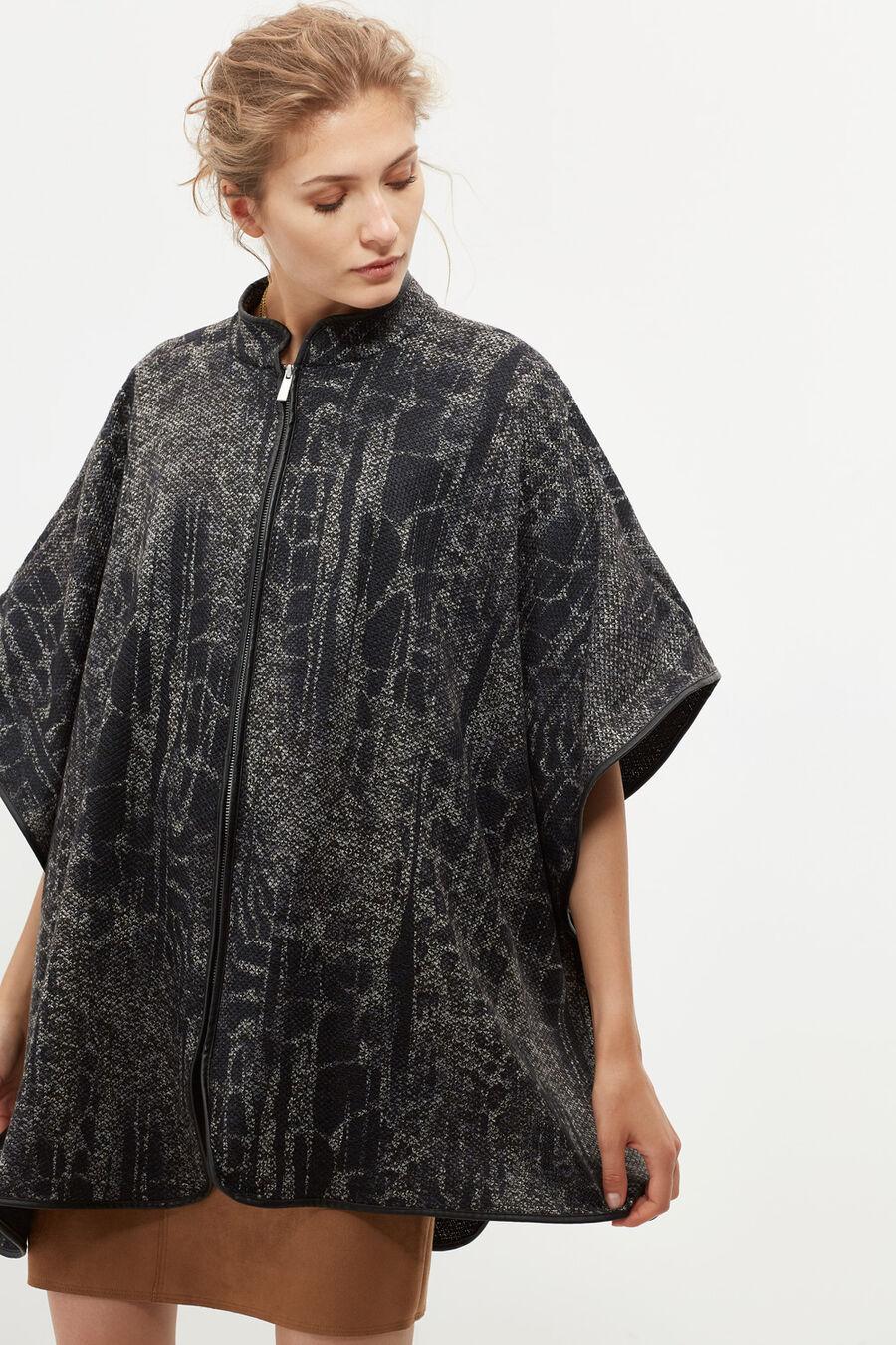 Animal print cape
