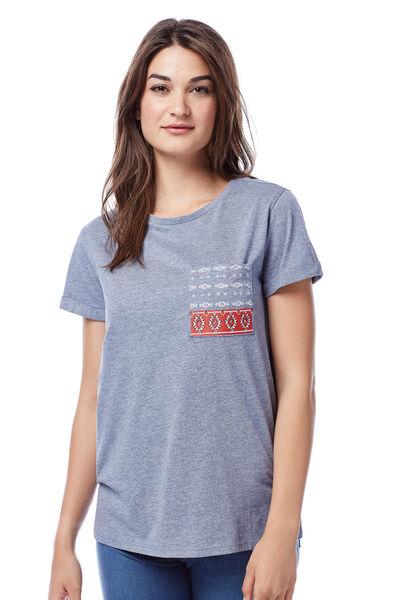 Camiseta bolsillo print