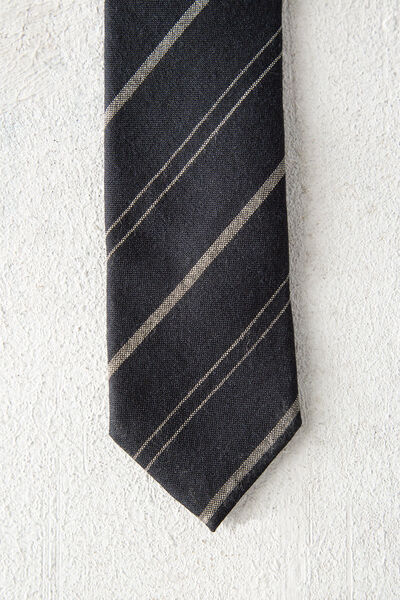 Corbata de lana de rayas