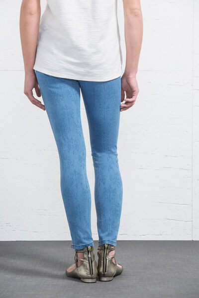 Pantalón skinny jacquard
