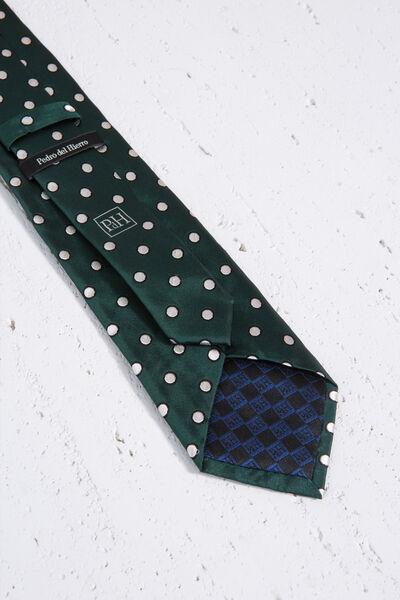 Corbata de seda natural con lunares