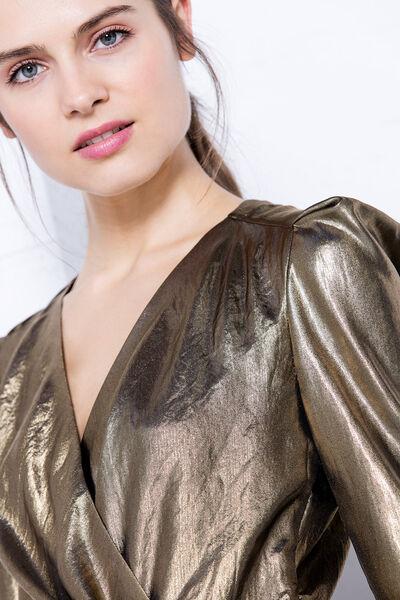 Vestido lazo brillo