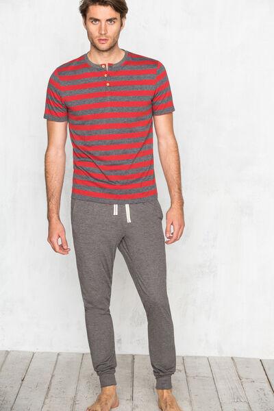 Camiseta de rayas de pijama